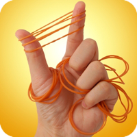 Rubber bands symbolizing tension headaches